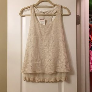 Racer back lace tank top